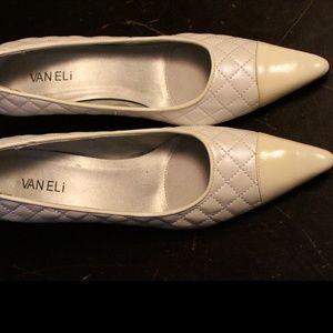 Vaneli, Laurus White Pearl, low heel shoes, Womens